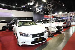 White Lexus on display at Bangkok International Auto Salon 2013 Royalty Free Stock Photography
