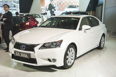 White lexus gs 300h car Royalty Free Stock Image