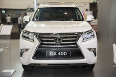 White Lexus gx 400 car Royalty Free Stock Photo
