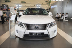 White Lexus rx 270 car Royalty Free Stock Images