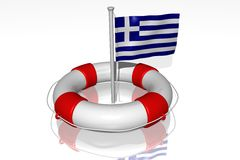 White life buoy Stock Image