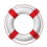 White life buoy Royalty Free Stock Photos