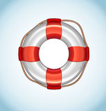 White Life Buoy Vector Icon Royalty Free Stock Image
