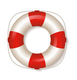 White life buoy. Vector Illustration. Stock Photography