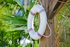 White life preserver hanging Royalty Free Stock Images