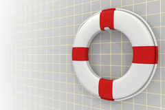 White lifebuoy Royalty Free Stock Images