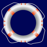 White lifebuoy Stock Images