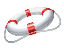 White Lifebuoy Royalty Free Stock Image