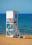 White lifeguard tower. Royalty Free Stock Image