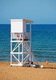 White lifeguard tower. Royalty Free Stock Image