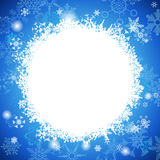 White And Light Blue Christmas background with snowflakes  Royalty Free Stock Image