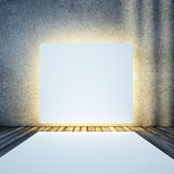 White light box and podium. All textures and maps my own photos royalty free stock photography