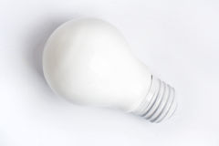 White light bulb Royalty Free Stock Photos