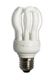 White Light Bulb. Close up of a white light bulb on white background with clipping path Royalty Free Stock Images