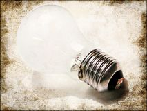White light bulb. Light bulb on grunge background stock illustration