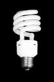 White light bulb on black background. Royalty Free Stock Images