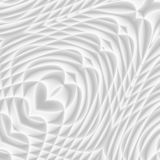 White and light grey futuristic pattern. Monochromatic design fo. R backgrounds, templates, backdrops, surface, textile and fabric designs. 3d render stock illustration