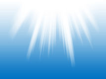 White light rays the blue background Royalty Free Stock Photo