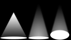 White light sources on black stage. White light sources spot on black stage Royalty Free Stock Photos