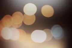 White light spotlights bokeh Stock Images
