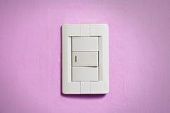 White light switch. Stock Photos