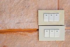 White light switch Royalty Free Stock Photos