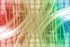 White light trails on a colourful background Royalty Free Stock Image