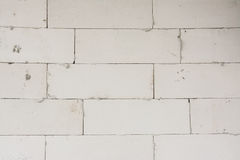 White Light Weight Concrete block Wall Royalty Free Stock Photography