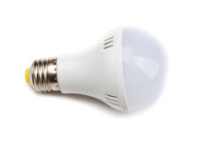 White Lightbulb Isolated on White Background Royalty Free Stock Photography