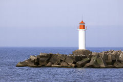 White lighthouse Royalty Free Stock Photos