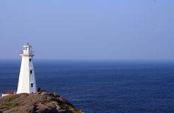White Lighthouse Across Body of Water Stock Photos