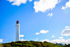 White lighthouse4. White lighthouse with the blue sky Stock Photos