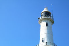 White lighthouse with blue sky - Series 2 Stock Photo