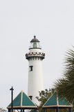 White Lighthouse at Christmas Royalty Free Stock Images