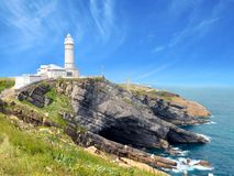 White lighthouse stock images