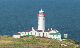 White lighthouse at Fanad Head, Donegal, Ireland Royalty Free Stock Photos