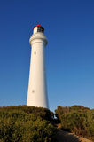 White lighthouse on the Great Ocean Road Stock Images
