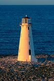 Nassau lighthouse at sunset. royalty free stock images