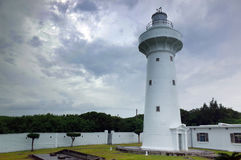 White Lighthouse at Kenting, Southern Taiwan Royalty Free Stock Images