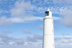 White Lighthouse Landscape Stock Image