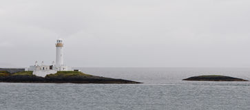 White Lighthouse, Oban Scotland Royalty Free Stock Photos
