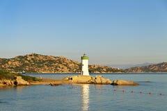 White lighthouse. Royalty Free Stock Image