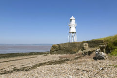 White lighthouse, Somerset Royalty Free Stock Images
