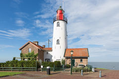 White Lighthouse of Urk, Dutch fishing village Stock Photography