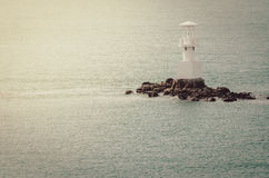 White Lighthouse vintage Stock Images