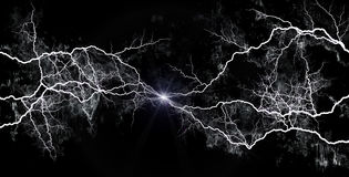 White Lightning Royalty Free Stock Photo