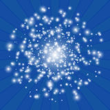 White lights on a blue background. Vector abstract illustration.  Royalty Free Stock Photography