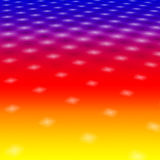 White Lights On Rainbow Backgr. White Star Lights On A Colourful Rainbow Background Royalty Free Stock Images