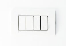 White Lights Switch Royalty Free Stock Photo