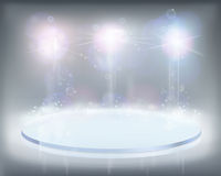 White lights. Vector illustration. Royalty Free Stock Images